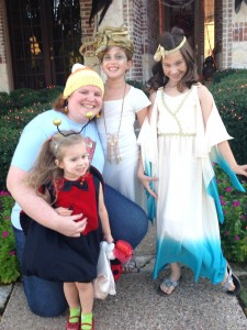 October - Trick or treating with the girlies in Texas.