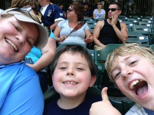 July - In Marinette to celebrate kid birthdays and take in a Brewers game!