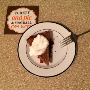 Thankful for pie on Thanksgiving evening!