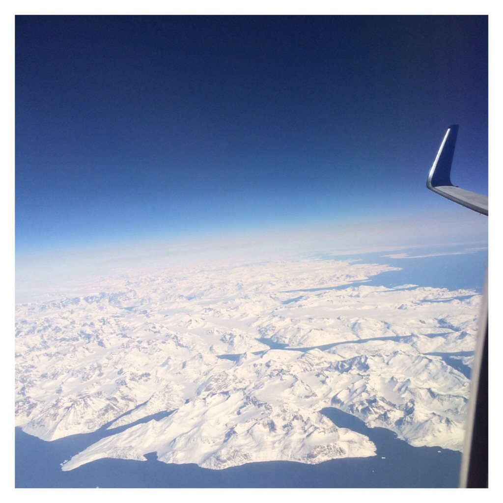 One the flight home, I looked out the window & saw Iceland