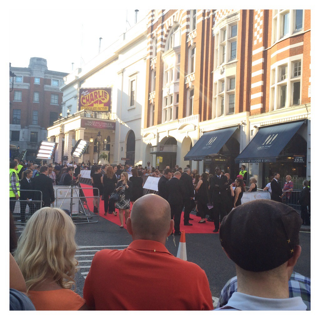 A glimpse of the red carpet