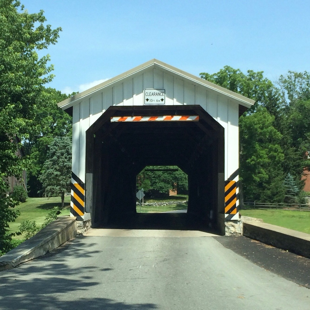 Amish covered bridges...this time with sunshine
