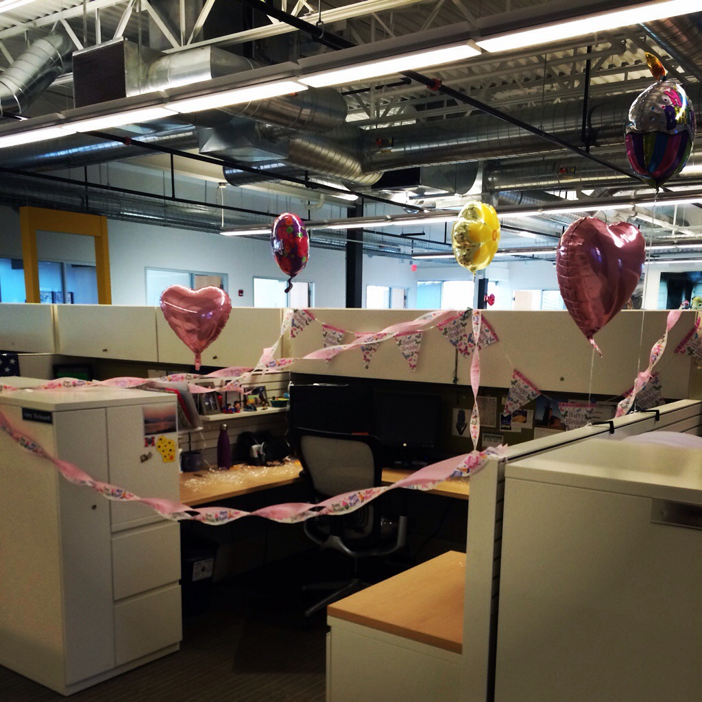 Office birthday decor...