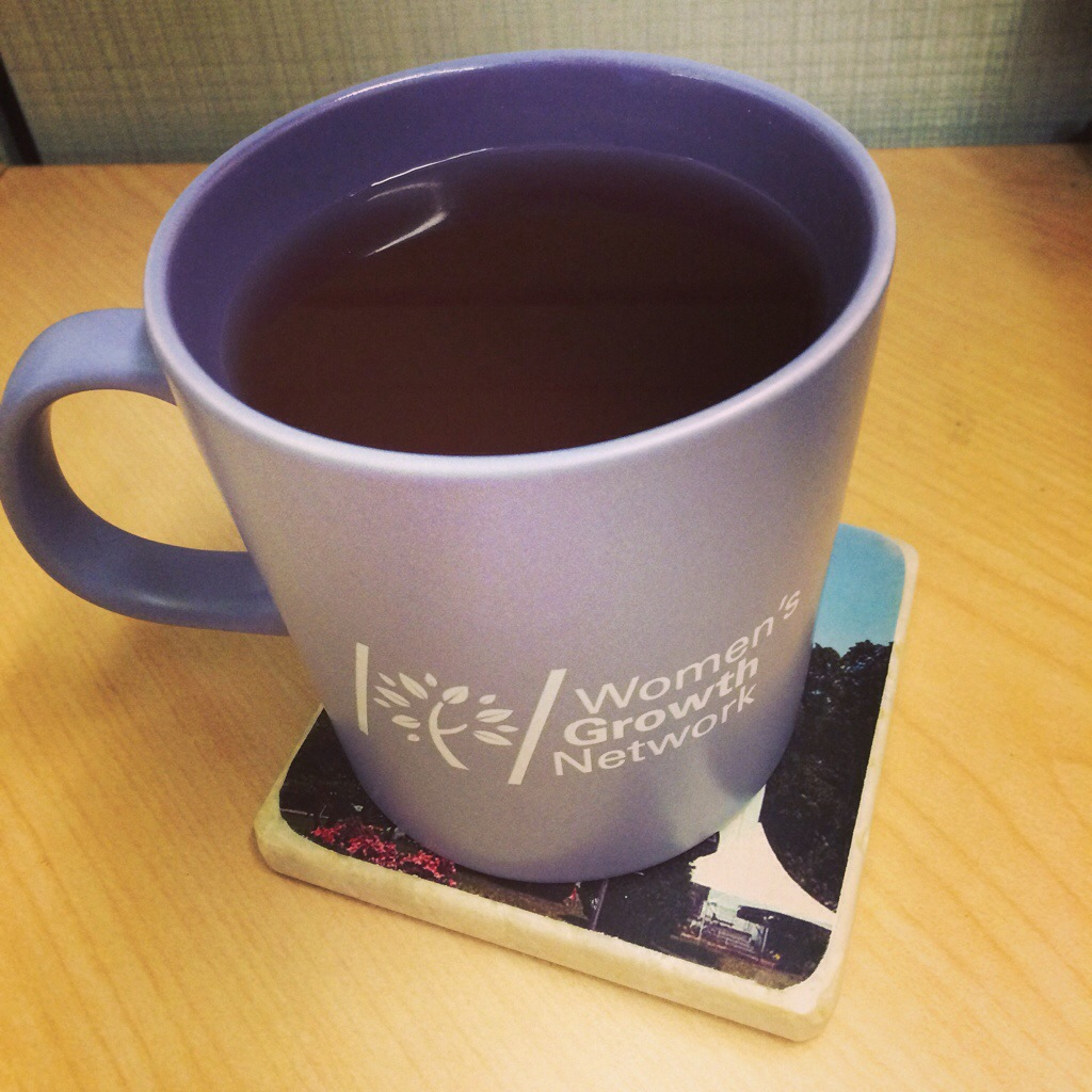 "One of many mugs of ""voice recovery"" tea this month..."