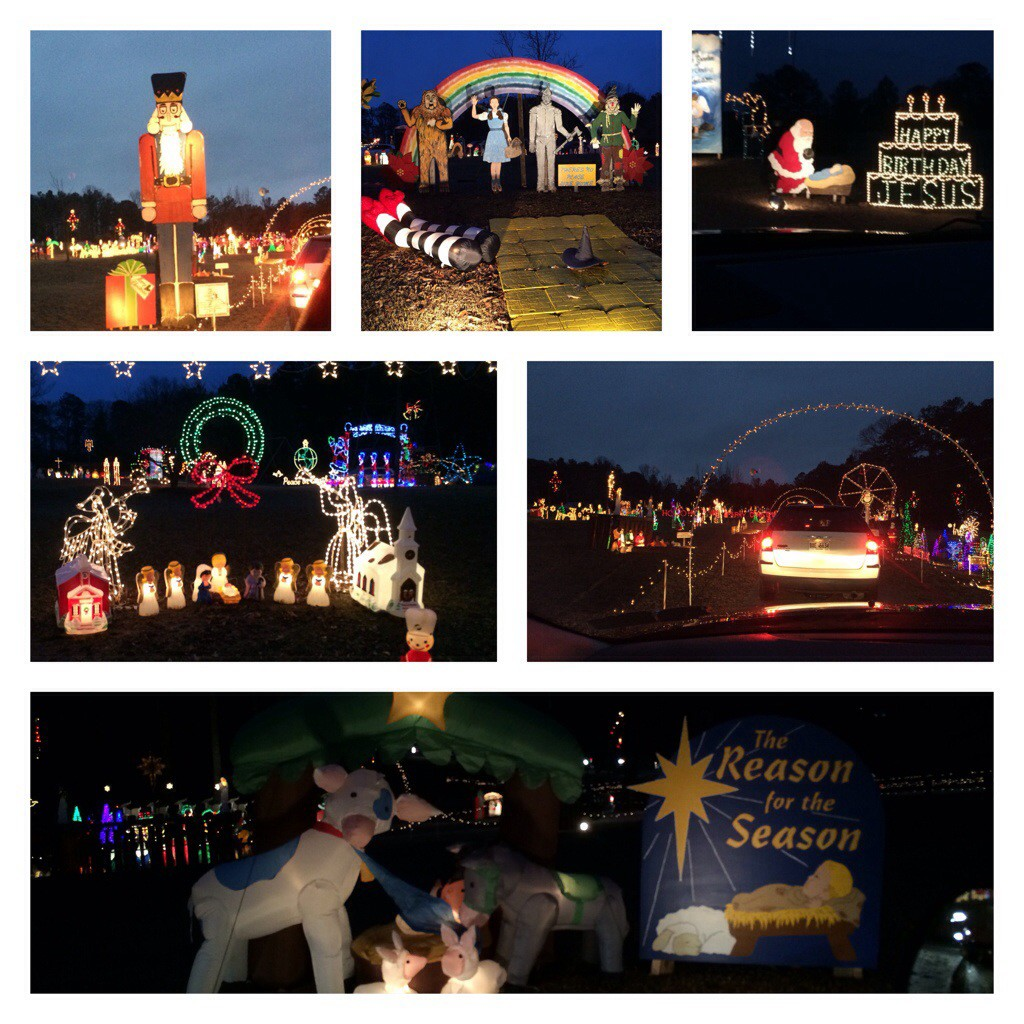 A spectacular light display in the 'Ville