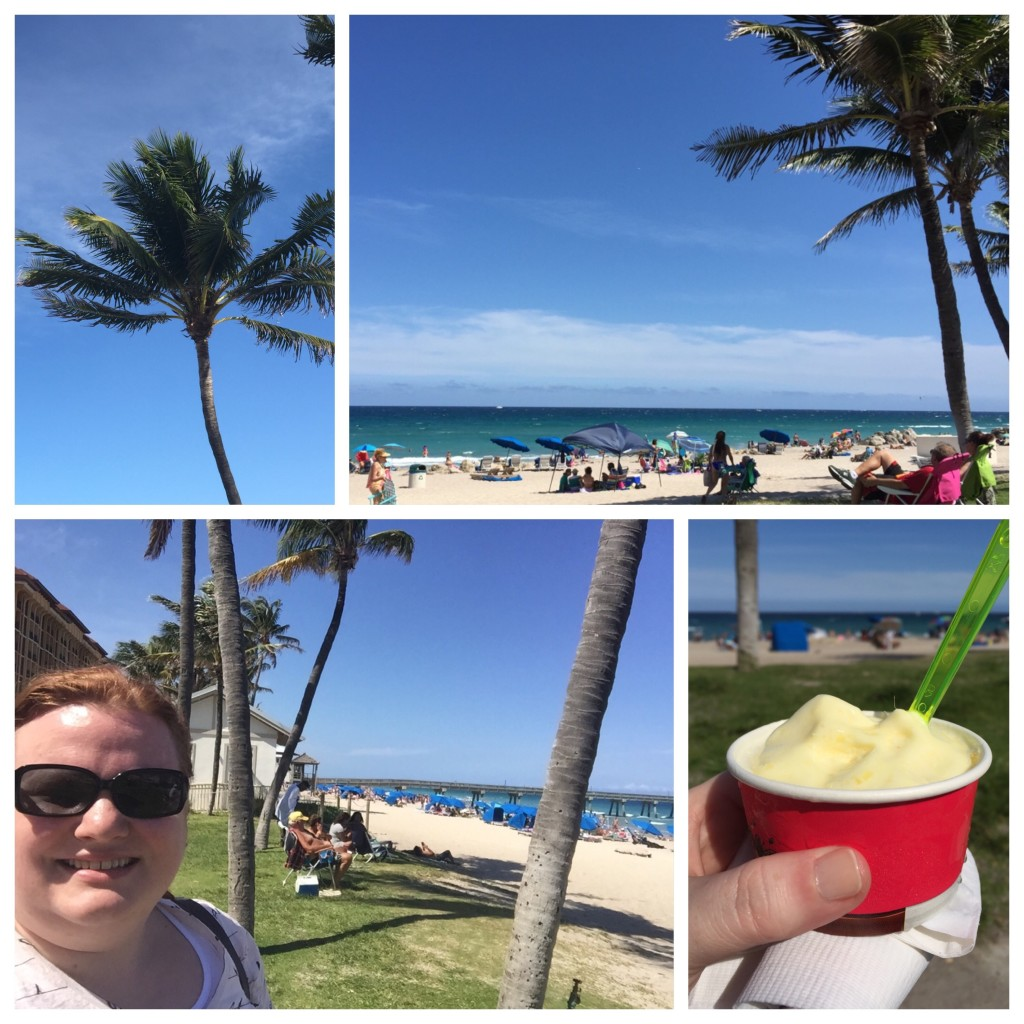 Sun, surf, seafood & pineapple gelato...