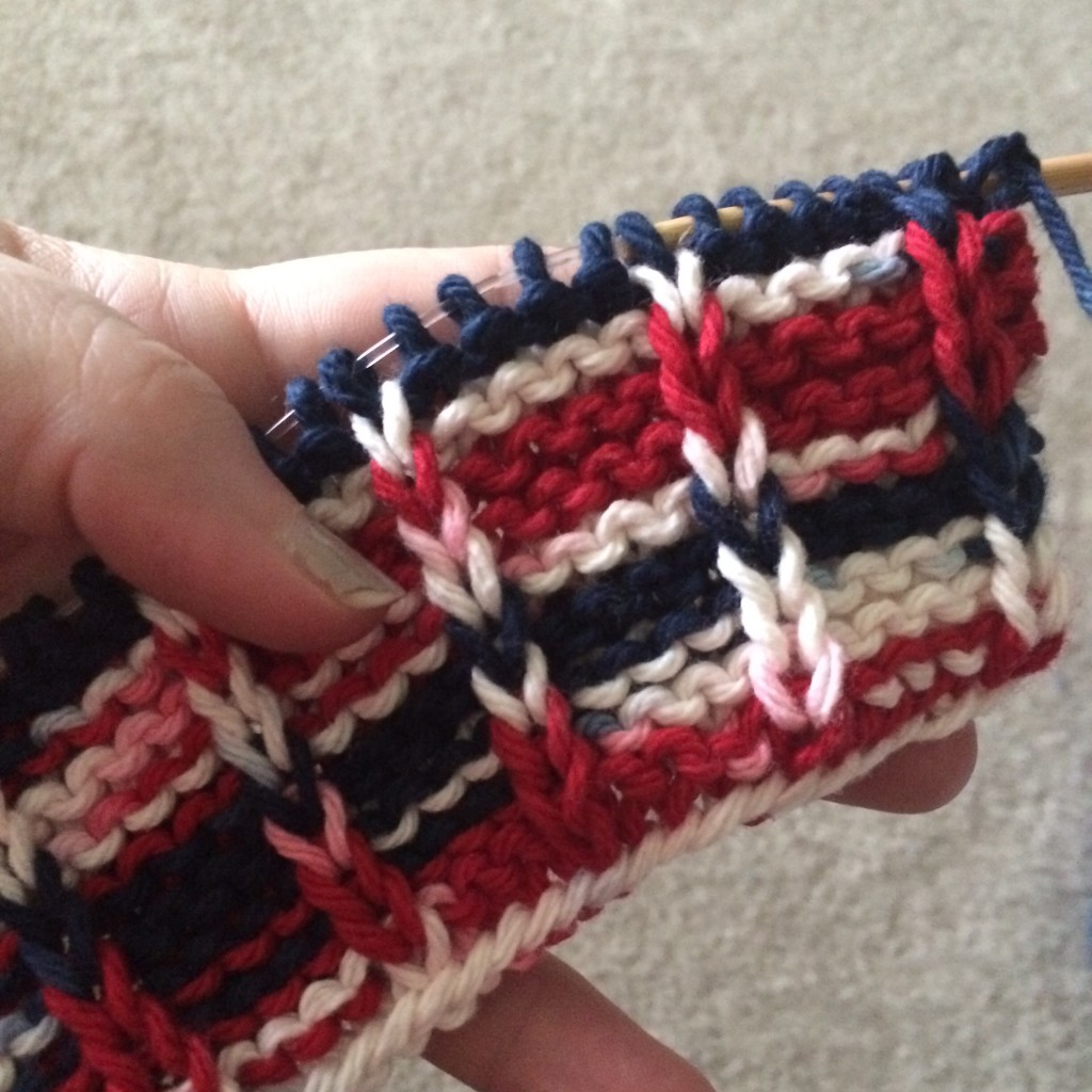 Simple cotton knitting...