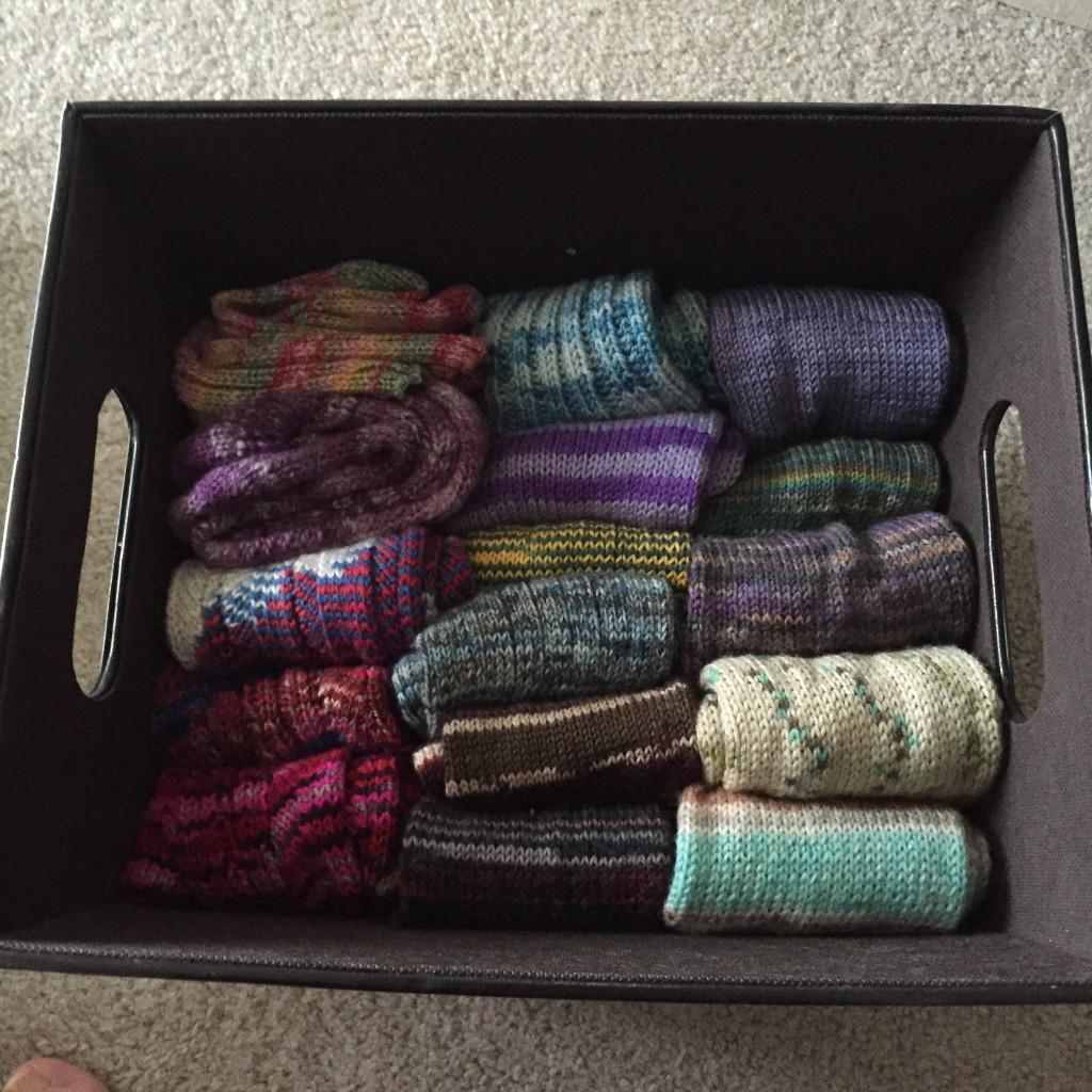...hand knit socks spark joy!