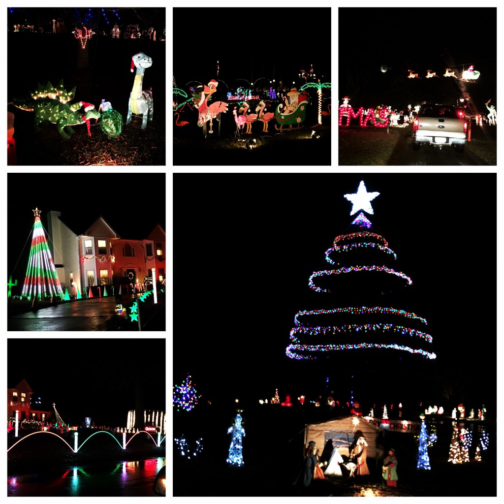 A fun evening driving around the county looking at Christmas lights...