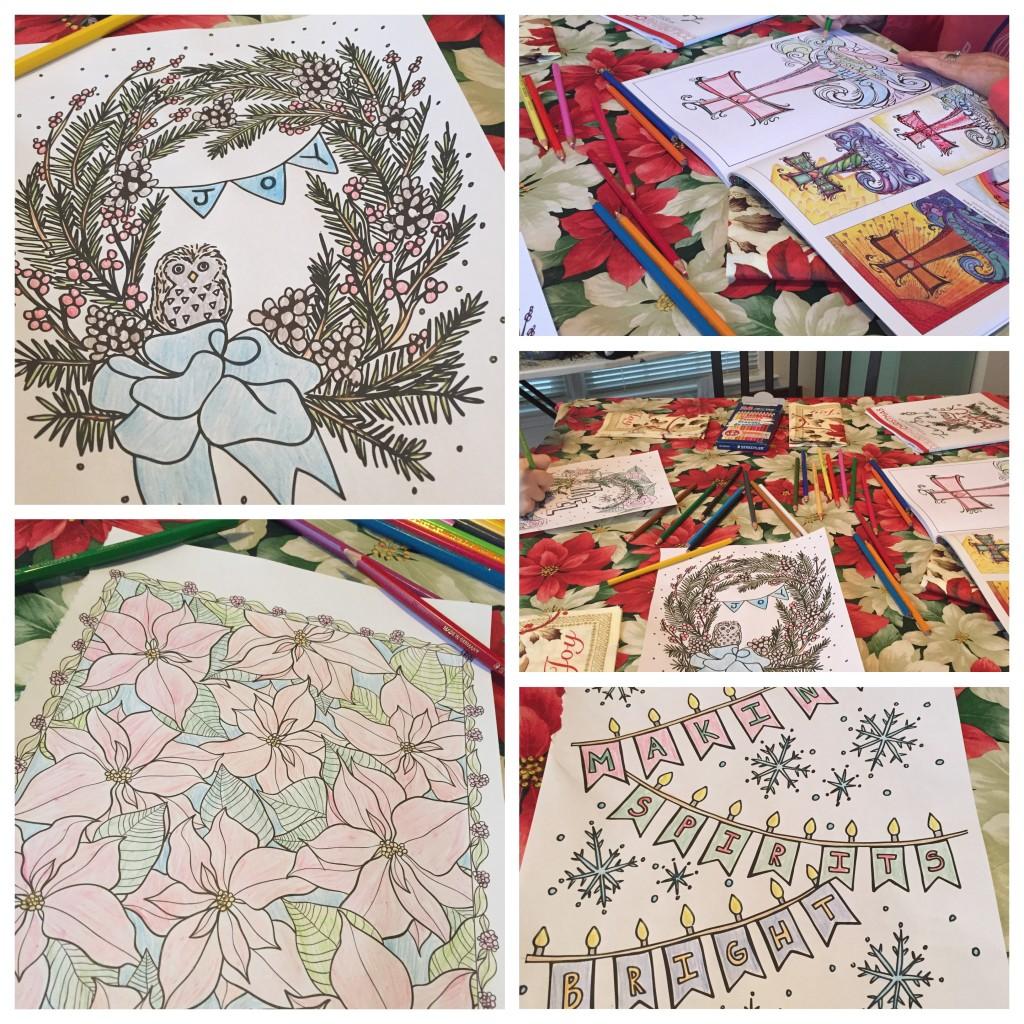 Christmas coloring book fun