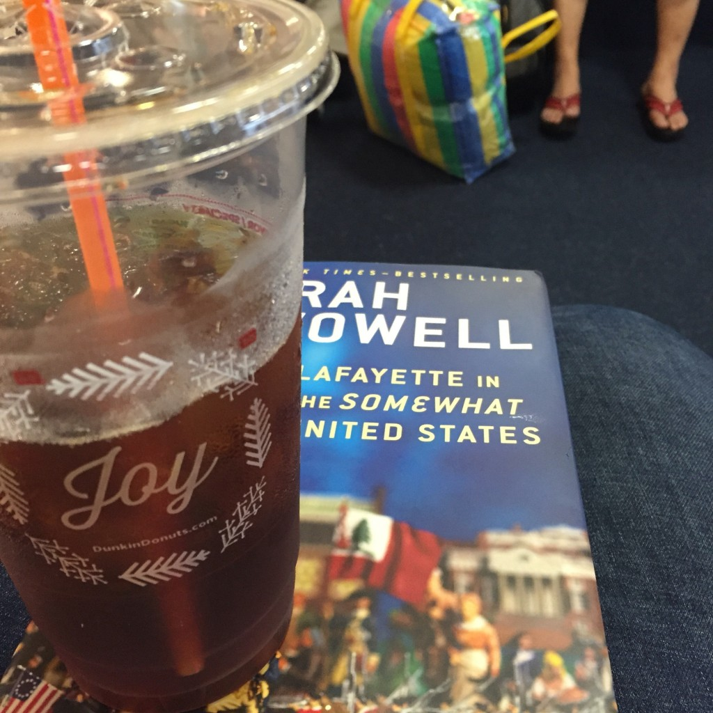 A good book made the flight delay after Christmas more manageable...