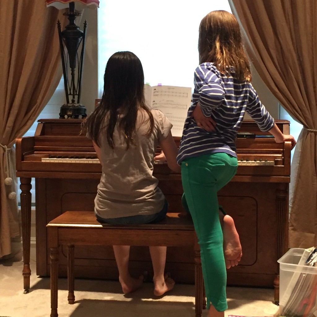 Piano concerts from the girls