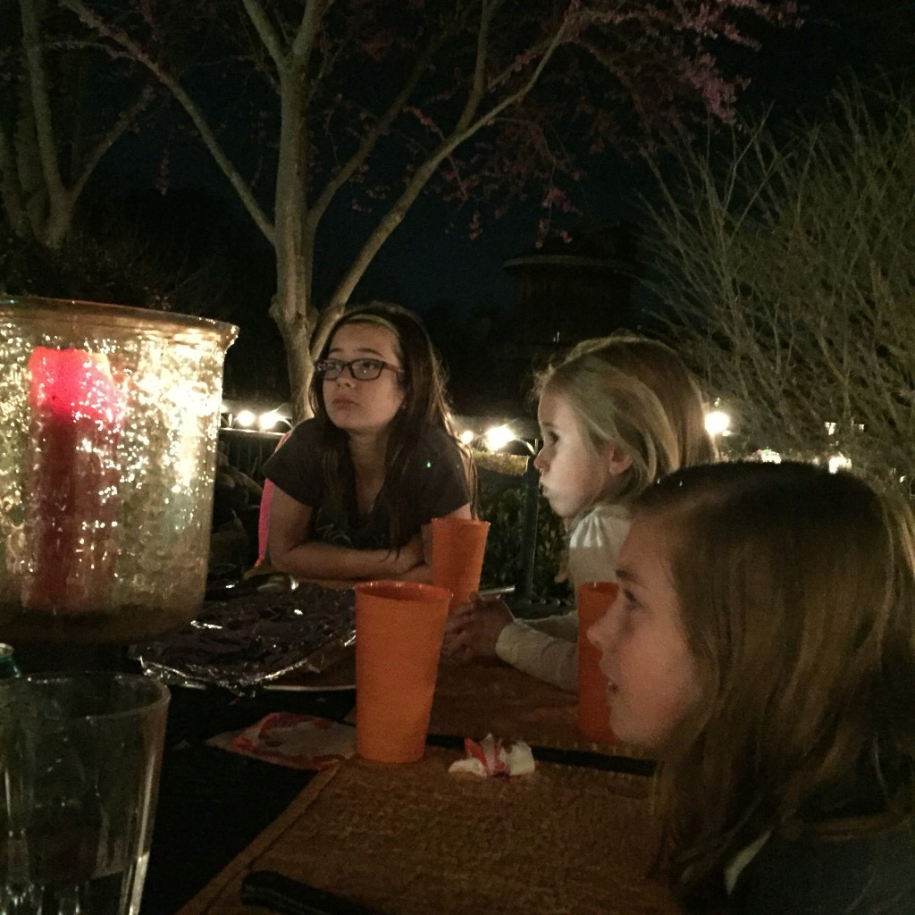 Pondering space exploration while dining under the stars