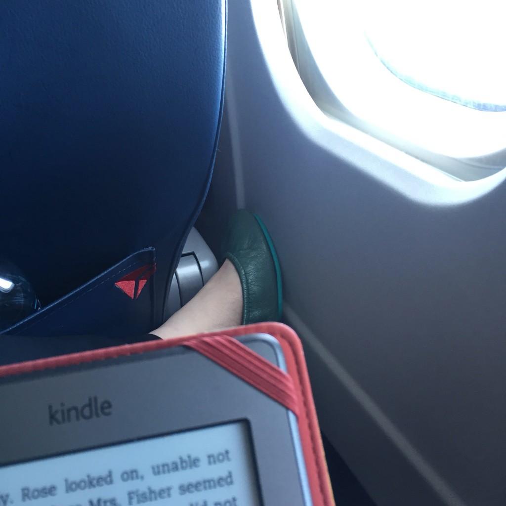 In flight reading