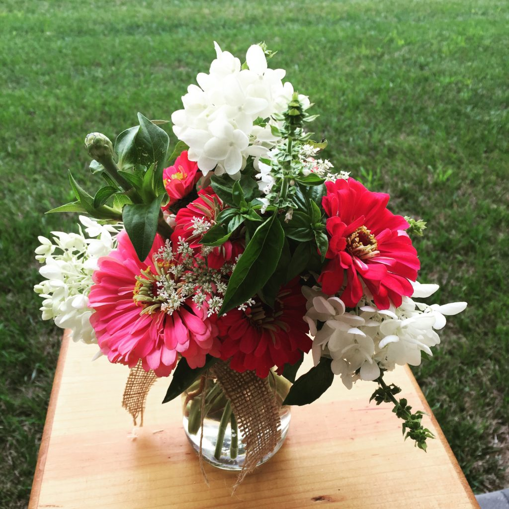 Artful & Aromatic: Zinnias & Basil from the Farm Stand